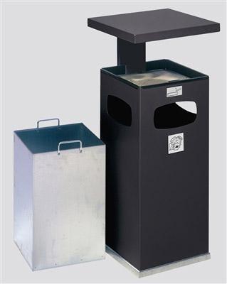 cendrier poubelle ext rieur avec couvercle epoxy ashtray. Black Bedroom Furniture Sets. Home Design Ideas