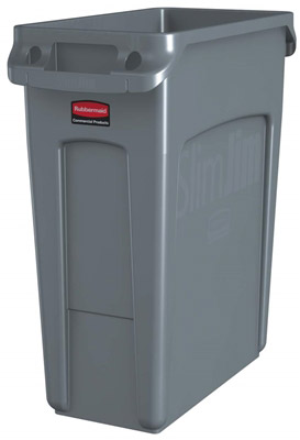 Collecteur Rubbermaid Slim Jim gris 60 litres