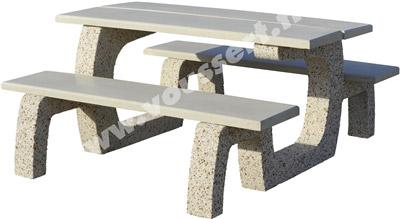 table d 39 ext rieur en b ton praprika lav auvergne. Black Bedroom Furniture Sets. Home Design Ideas