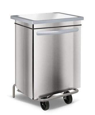 poubelle cuisine inox haccp carénée 70 litres