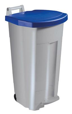 poubelle de cuisine rossignol 90 l haccp couvercle bleu. Black Bedroom Furniture Sets. Home Design Ideas