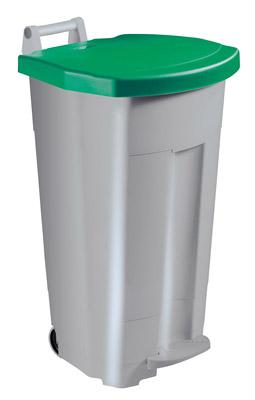 Poubelle de cuisine rossignol 90 litres haccp couvercle vert - Poubelle cuisine verte ...