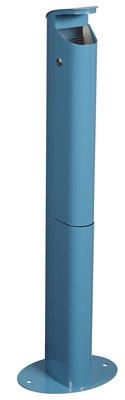 cendrier exterieur sur pied rossignol 2 5l bleu azur. Black Bedroom Furniture Sets. Home Design Ideas