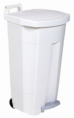 poubelle de cuisine rossignol haccp 90 litres couvercle blanc. Black Bedroom Furniture Sets. Home Design Ideas