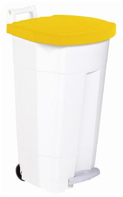 poubelle de cuisine rossignol haccp 90 litres jaune. Black Bedroom Furniture Sets. Home Design Ideas