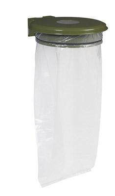 support sac poubelle avec trappe vert olive rossignol. Black Bedroom Furniture Sets. Home Design Ideas