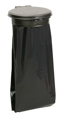 support sac poubelle avec couvercle gris rossignol prix. Black Bedroom Furniture Sets. Home Design Ideas