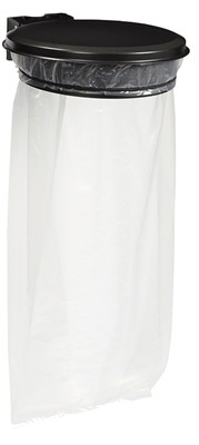 support sac poubelle avec couvercle gris rossignol. Black Bedroom Furniture Sets. Home Design Ideas