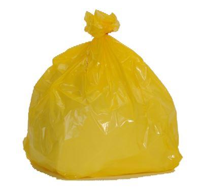 éclatant sélection spéciale de vif et grand en style Sac poubelle 110 litres jaune colis 200