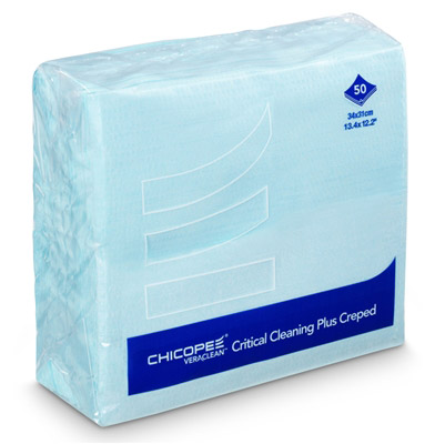 Chicopee Veraclean critical cleaning plus turquoise creped 8x50