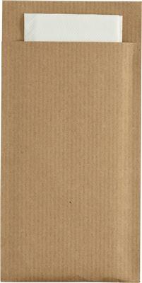 Pochette Couvert Kraft Brun Celiouate Blanche Par 240