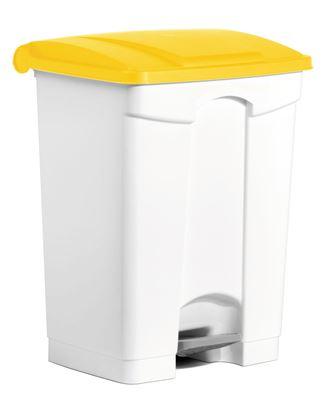 Poubelle cuisine HACCP 70 L jaune pedale