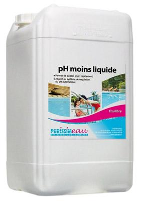 Ph moins ph minus liquide produit piscine bidon 12 5 kg for Clarifiant liquide piscine