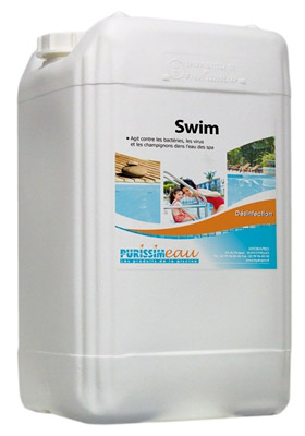 Swim traitement sans chlore produit piscine bidon 10 l for Traitement piscine sans chlore