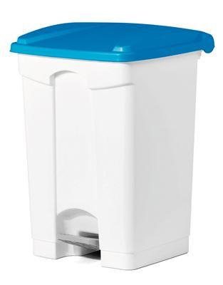 poubelle cuisine haccp 45 l a pedale bleu. Black Bedroom Furniture Sets. Home Design Ideas