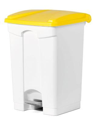 Poubelle cuisine HACCP 45 L jaune pedale