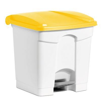 Poubelle cuisine HACCP 30 L jaune pedale