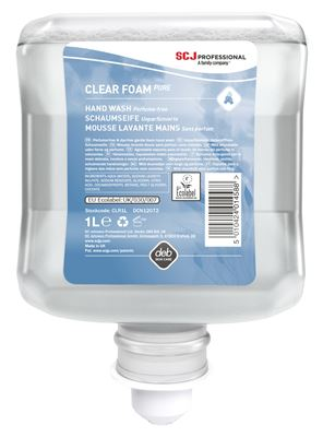 Savon mousse Deb Clear Foam Wash lavante douce Ecolabel 6 X 1000 ml