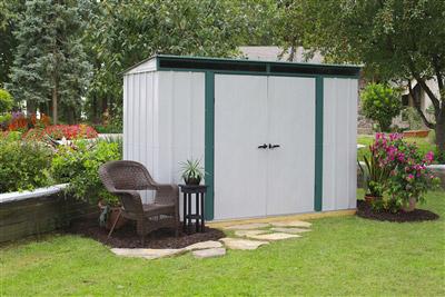 Abri de jardin metal arrow acier galvanis 3 57 m2 - Abri de jardin acier galvanise nice ...