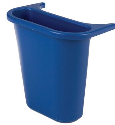 bac rubbermaid de separation poubelle tris selectif 4 5 l bleu. Black Bedroom Furniture Sets. Home Design Ideas