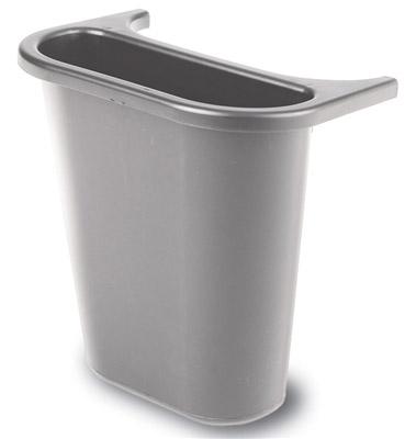 bac rubbermaid de separation poubelle tris selectif 4 5 l gris. Black Bedroom Furniture Sets. Home Design Ideas