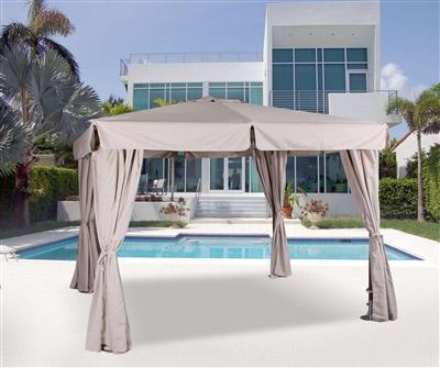 tonnelle de jardin bois exotique 3x3 promo. Black Bedroom Furniture Sets. Home Design Ideas