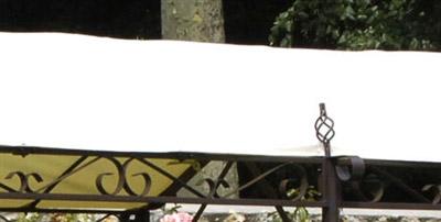 Toile impermeable tonnelle jardin seville azur adossee 400grs pet pvc - Tonnelle de jardin toile impermeable ...