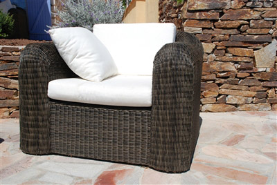 fauteuil resine tressee mikonos fil rond prestige. Black Bedroom Furniture Sets. Home Design Ideas