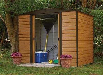 abri de jardin arrow acier galvanis wr86 4m2. Black Bedroom Furniture Sets. Home Design Ideas