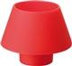Acheter Bougeoir en silicone duni moodies rouge colis de 4