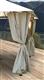 Acheter Rideaux tonnelle de jardin Atlas Constantinople 3x3 ecru