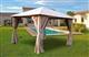 Acheter Tonnelle de jardin 3x3 m avec rideaux Atlas coloris taupe