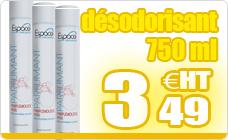 Espace desodorisant citron vert professionnel aerosol 750 ml