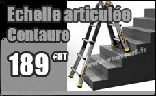 Echelle articulee pro telescopique 0,95 m / 2,95 aluminium Centaure