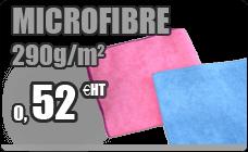 Chiffon microfibre bleu 40 x 40