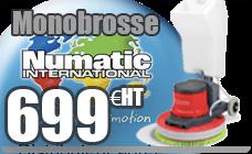Monobrosse Numatic basse vitesse EHFM1015