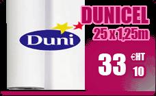 Dunicel blanc rouleau non tisse Duni 1,25 x 25 m