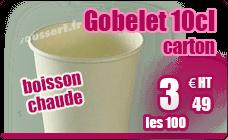 Gobelet boisson chaude carton blanc 10 cl paquet de 100