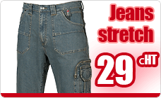 Pantalon de travail jean stretch