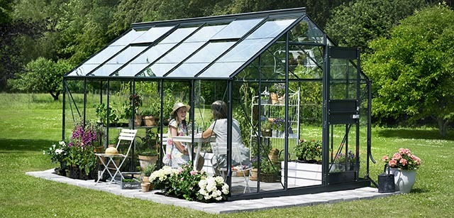 Serre jardin verre Belgique