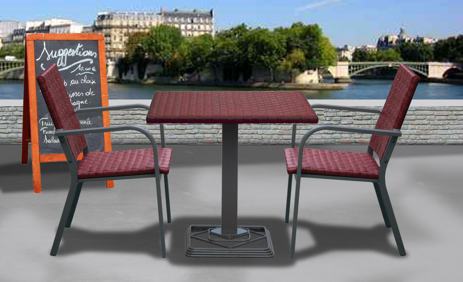 Meuble de jardin r sine tress e fabricant direct usine for Table exterieur castorama